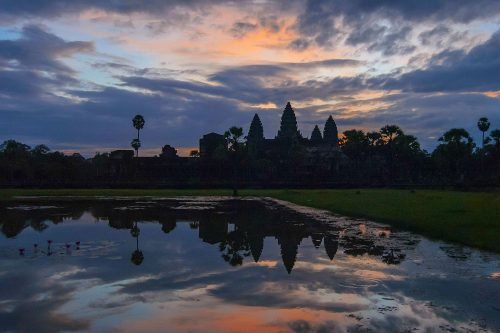 ANGKOR - Angkor Wat (Book a tuk-tuk for the day for around $20 - he will take you to Angkor in the early morning so you can catch the sunrise and bring you to different temples afterwards.)